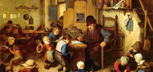 Maître d'école au XVII ème siècle